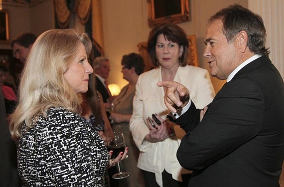 At the Executive Mansion, Jonnie Williams, right, talks with Maureen McDonnell. The governor's reception April 29, 2011, was part of events surrounding race weekend at Richmond International Raceway. - OFFICE OF THE GOVERNOR