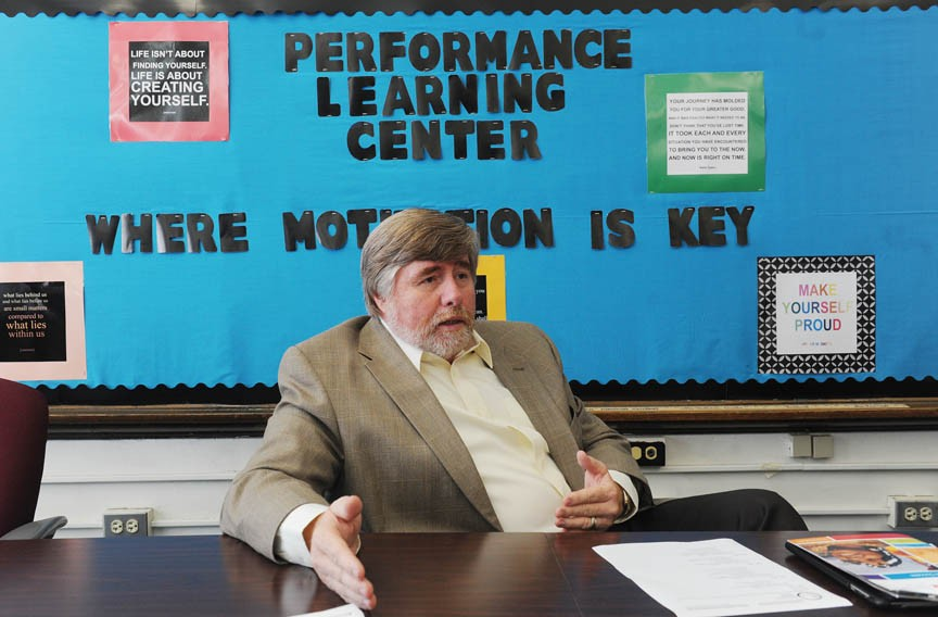 "At the Performance Learning Centers, there is no failure, says Harold Fitrer, president and chief executive of Communities in Schools of Richmond. ""You just haven't succeeded yet."" - SCOTT ELMQUIST"