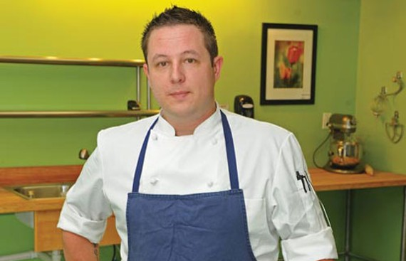 At the restaurant incubator Kitchen Thyme on West Broad Street, chef John Maher is refining plans for his first pop-up restaurant, Spoon, coming downtown in May. - SCOTT ELMQUIST