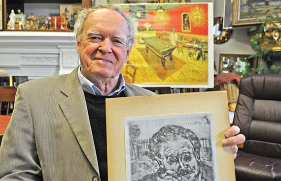 "Author and professor Cliff Edwards didn't expect to find a lost work by Vincent van Gogh hanging on the wall. ""What if I hadn't told?"" - SCOTT ELMQUIST"