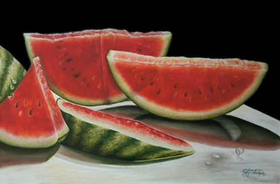 """Backlit Watermelons"" by Gloria Callahan."