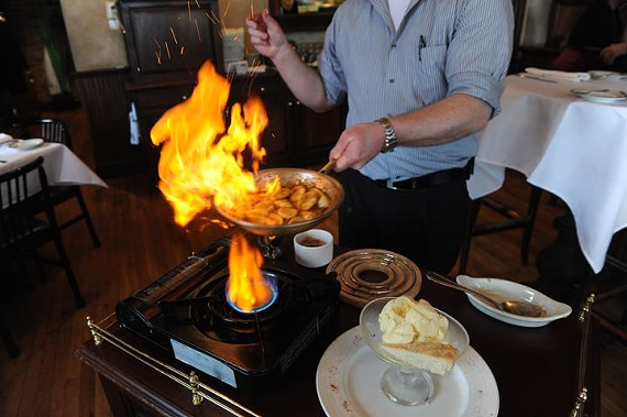 Bananas Foster at Julep's New Southern Cuisine. - SCOTT ELMQUIST