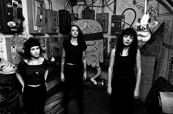 Bassist Meredith Franco, aka Minnie Coathanger, drummer Stephanie Luke, aka Rusty Coathanger, and guitarist Julia Kugel, aka Crook Kid Coathanger, have relied on heavy voltage to take them from party band to respected rockers.