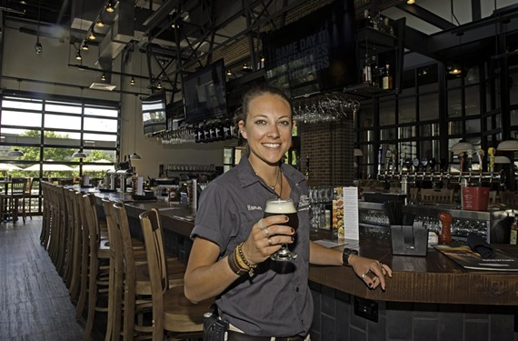 Becky Hammond is head brewer at Rock Bottom Brewery, a new eight-barrel brew house in Short Pump.