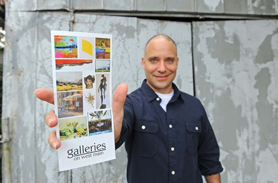 B.J. Kocen, co-owner of the Glave Kocen Gallery on West Main Street, says nearly a dozen galleries in the Fan are considering their own art walk, possibly on the last Sunday of each month. - SCOTT ELMQUIST