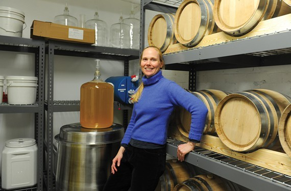 Blue Bee Cider's Courtney Mailey is collaborating with the VHS to produce cider from an 18th century recipe.
