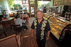 Bob Buffington opened Captain Buzzy's Beanery when businesses were still reluctant to invest in Church Hill. - SCOTT ELMQUIST