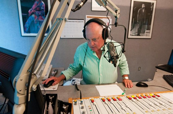 """""""Boothy Baby"""" is behind the console during his afternoon show on Oldies 107.3. In addition to years of voice-over work, he's also had bit roles in movies such as """"Hannibal"""" and """"Hearts in Atlantis,"""" and appeared in a couple of BBC documentaries, including one where he played Adm. George Morrison — rocker Jim Morrison's dad."""