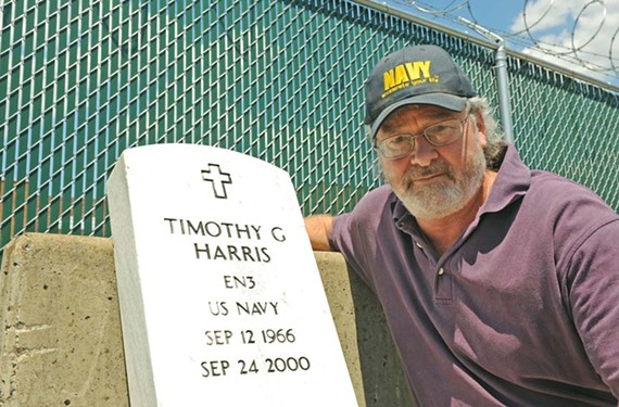 Brian Slack wants to know how where this grave marker rightfully belongs. - SCOTT ELMQUIST