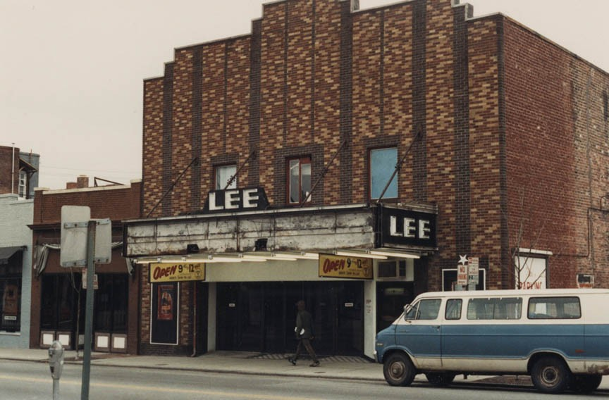 Buildings gone by: VCU snapped up the Lee Art Theatre, as seen in 1987, transforming it into Grace Street Theater, below. - SPECIAL COLLECTIONS AND ARCHIVES, VCU LIBRARIES