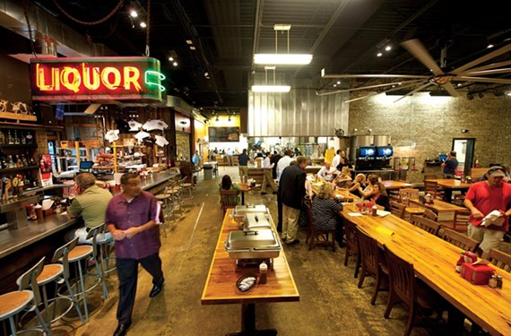 Buz and Ned's has carved a smoked-meat niche and built a bigger second home with an industrial-style roadhouse on West Broad Street. - SCOTT ELMQUIST