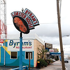 Byram's Lobster House, a longtime fixture on W. Broad St., is still serving lunch and dinner as it awaits a buyer.