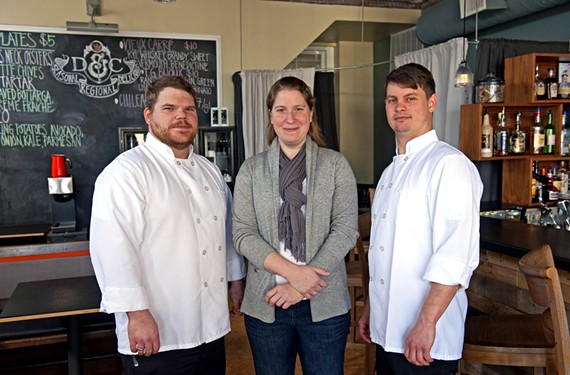 Caleb Shriver, Michelle Peake Shriver and Phillip Perrow are the owners of Dutch & Co., newly nominated for Food & Wine magazine's people's chef contest. - SCOTT ELMQUIST