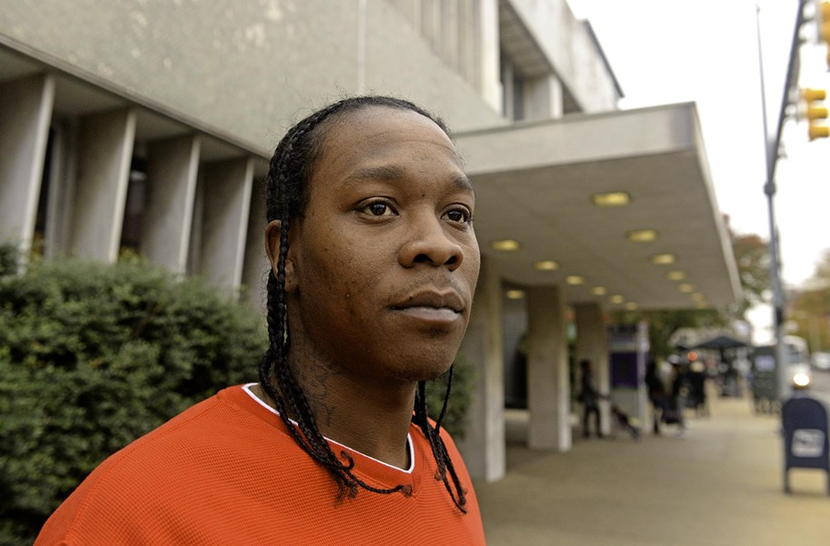 Calling it a positive influence on his life, Dominic Lemon is the second graduate of the city's new day reporting center, a jail alternative that requires daily check-ins. - SCOTT ELMQUIST