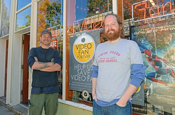 Can Video Fan survive? Owner Doug McDonald and manager Andrew Blossom say the store needs help— and nonprofit status.