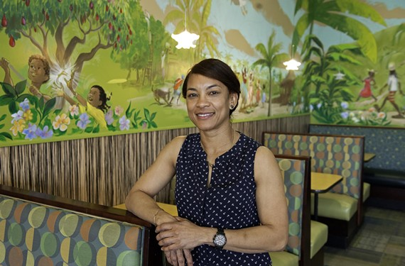 Carena Ives reopens her south side business, Carena's Jamaican Grille, next week, with new versions of Happy the Artist murals setting a cheerful tone.