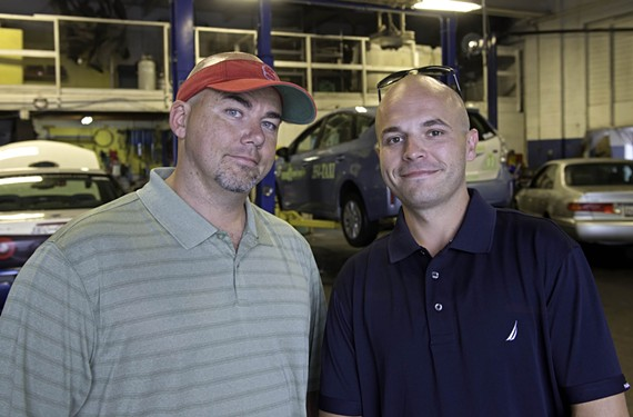 """C.B. Brevard joined Jonathan Trainum as vice president of Napoleon shortly after the company started. """"When I first became a cab driver I thought I'd be doing this for a couple months,"""" Brevard says. """"That was 10 years ago."""" - SCOTT ELMQUIST"""
