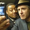 Cedric Yarbrough and Carlos Alazraqui at the Hat Factory