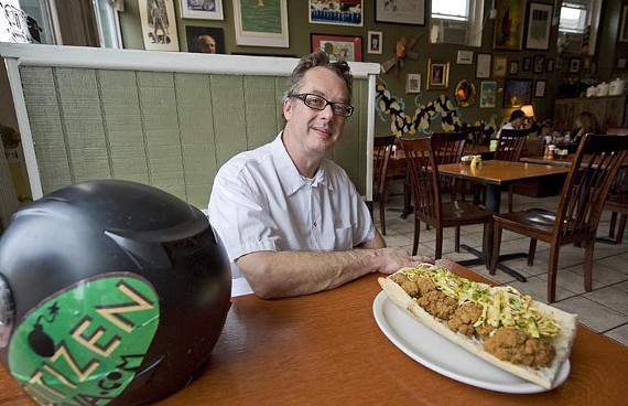 Chef Greg Johnson of downtown cafe Citizen heads into battleship mode at Black Sheep when he's not cooking. - ASH DANIEL