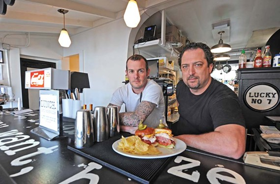 Chef John Seymore and Rick Lyons are open for business at the newest Scott's Addition eatery, Lunch, which also serves breakfast and dinner. - SCOTT ELMQUIST