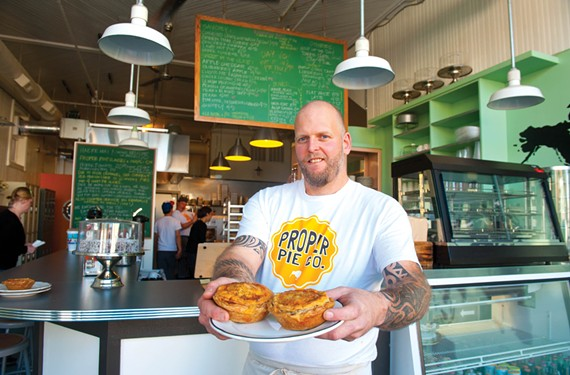 Chef Neil Smith brings savory New Zealand pies to town, with beef, chicken and vegan varieties and a range of desserts, at his new business Proper Pie Co. in Church Hill. - SCOTT ELMQUIST