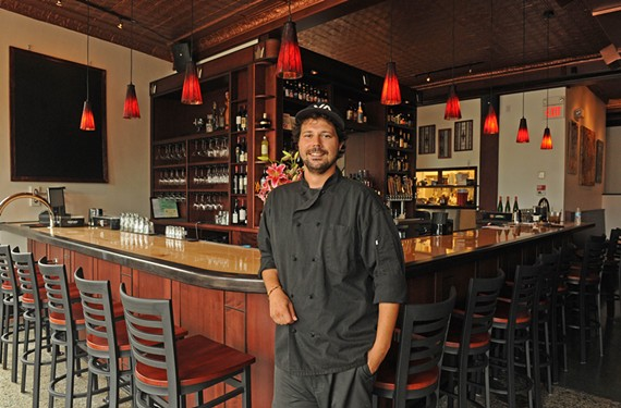 Chef Ryan Baldwin shows off the Viceroy, newly open in the Museum District with an ambitious menu and a comfortable vibe. - SCOTT ELMQUIST