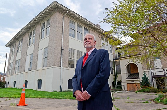 Christopher LoPiano of Community Preservation and Development Corp. says the nonprofit plans to convert the old Highland Park School into 77 apartments for low-income seniors now living in public housing.