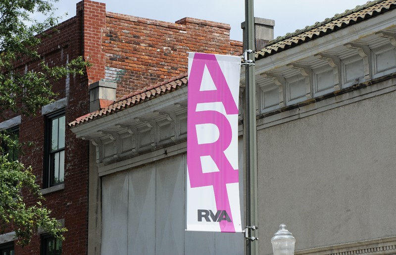 """City officials wasted no time putting up """"Arts District RVA"""" banners along West Broad Street - SCOTT ELMQUIST"""