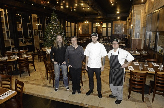 Co-owners Chris Adler and Mac MacCormack with chefs Philip Denny and Todd Brady. - SCOTT ELMQUIST
