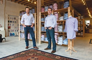 Co-owners Paul Trible and Paul Watson, in their Shockoe Slip store. - SCOTT ELMQUIST
