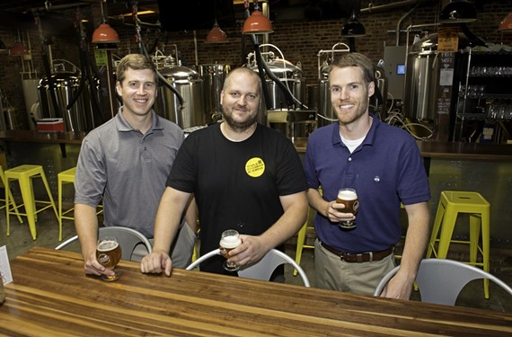Co-owners Scott Jones, Jeremy Wirtes and Adam Worcester say their focus is on serving from tank to tap.