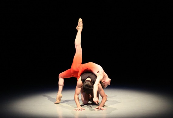 "Cody Beaton and Trevor Davis in (Beyonce choreographer) Darrell Grand Moultrie's ""iNVERSION."""