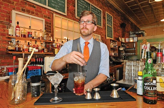 Comfort bartender Mattias Hagglund says Fernet's removal from liquor-store shelves will lead to less variety, and sophistication, in his cocktail offerings. - SCOTT ELMQUIST