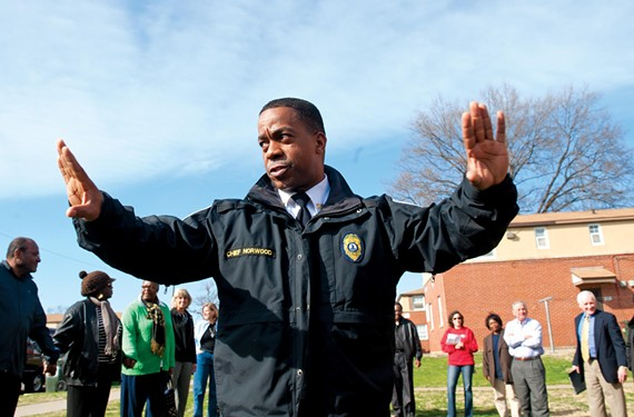 Critics suggest that Mayor Dwight Jones may be dissatisfied with Police Chief Bryan Norwood's performance. - SCOTT ELMQUIST