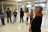 """Cynde Liffick, right, blocks out a scene of William Shakespeare's """"As You Like It"""" for the home-schooled pupils in her Planet Shakespeare class. """"There's such a self-esteem rush you can get from Shakespeare."""""""