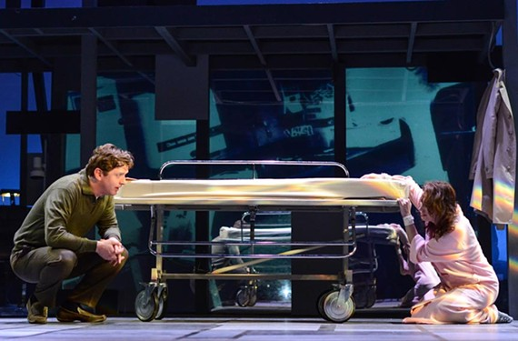 "Dan (played by Duke Lafoon) and his wife, Diana (played Andrea Rivette) provide riveting performances and clear singing voices in ""Next to Normal,"" a must-see musical about mental illness. - JASON COLLINS PHOTOGRAPHY"