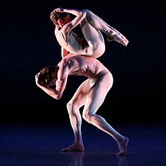 """Dancers Desmond Richardson and Anne Sidney Davenport engage in """"simulated nudity"""" during a Richmond Ballet production of John Butler's """"After Eden."""" Obscenity may be in the eye of the beholder but Virginia laws regulating on-stage nudity seem to fluctuate according to artistic genre and venue."""