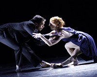 """Dancers Luke Murphy and Leslie Kraus perform the erotically charged duet """"Drop Down."""""""