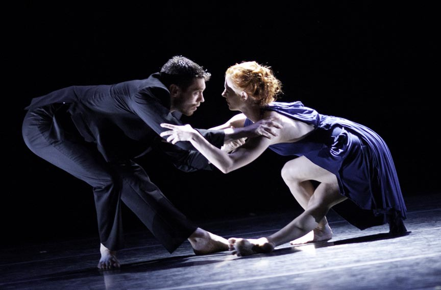 "Dancers Luke Murphy and Leslie Kraus perform the erotically charged duet ""Drop Down."" - KEIRA HEU-JWYN CHANG"