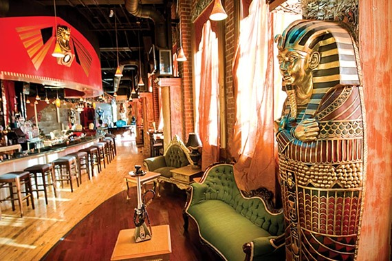 Décor at Off the Hookah is its strong point, followed by better than average bar food, but it's the service at the busy club that could use some attention. - ASH DANIEL/FILE
