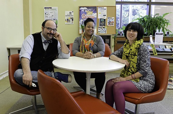 David Folmer, emerging technology librarian, Natasha Payne-Brunson, young adult coordinator, and circulation supervisor Natalie Draper are looking to make Richmond Public Library fun again with new do-it-yourself programs known as maker spaces.