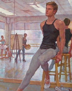 "David Tanner's ""Painting Phillip Skaggs of Richmond Ballet."""