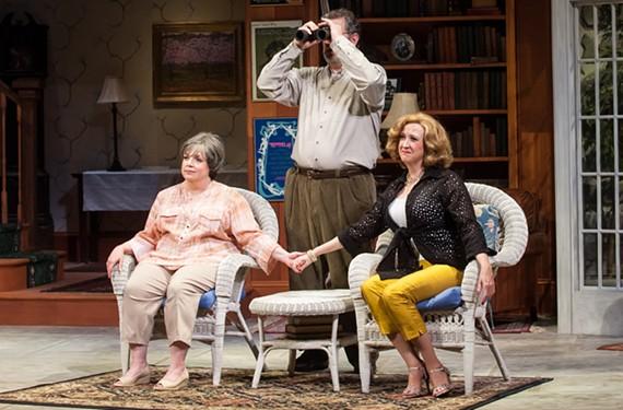 Debra Wagoner as Sonia, Joe Pabst as Vanya and Susan Sanford as Masha, siblings in this modern-day take on Chekhov.