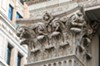 Deeply carved capitals are part of the classical vocabulary Bossom lavished on the First National Bank facade.
