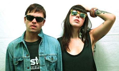 Derek E. Miller and Alexis Krauss of Sleigh Bells.