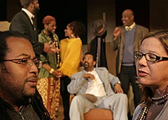 "Derome Scott Smith, left, the artistic director of the African-American Repertory Theatre, is working with Sycamore Rouge's artistic director, K.B. Saine, on a staging of August Wilson's ""Jitney."" The collaboration is one of many theater co-productions on the horizon this year. Photo by Jay Paul."