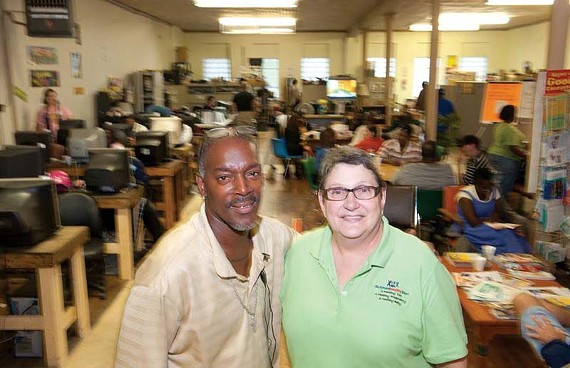 Despite limited resources, Robert Humphrey and Carolann Pacer-Ramsey of Hilltop Promises say as the economy worsens they are serving more underemployed people. - SCOTT ELMQUIST