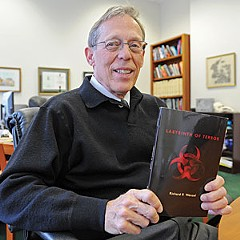"Dr. Richard P. Wenzel, former chairman of internal medicine at Virginia Commonwealth University's Medical Center, recently published his first work of fiction, a medical thriller: ""Labyrinth of Terror."""