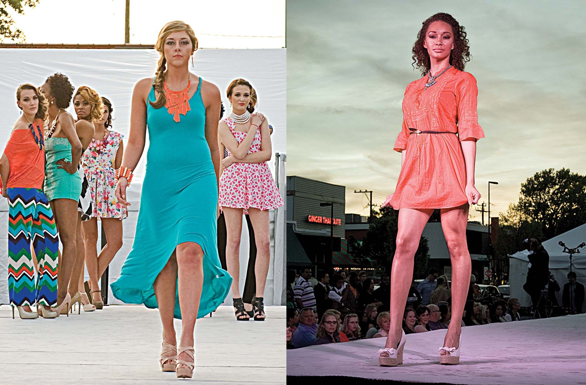 Dresses and sportswear in tropical colors gave RVA Fashion Week some punch in an afternoon show in Carytown. - ASH DANIEL
