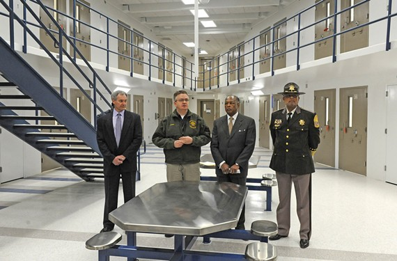 During a tour of the city's new jail, officials including Mayor Dwight Jones and Sheriff C.T. Woody say it will open at the end of the year. They decline to be more specific, citing security concerns.